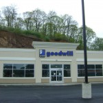 Sign installation for Goodwill