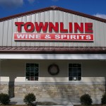 Sign for Townline Wine & Spirits